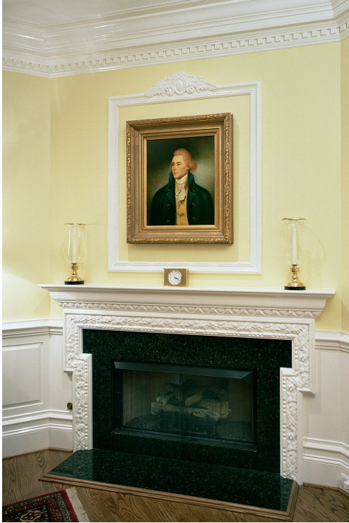 Carved Mantel with Wainscot - Charlottesville, VA